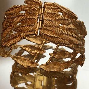 Vintage Givenchy Gold Leaf Cuff